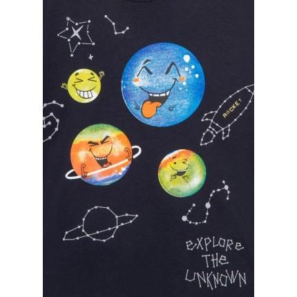 Detalle estampado Camiseta Losan Kids niño Explore infantil manga larga