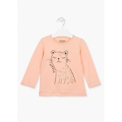 Camiseta Losan Kids niña Roar! infantil manga larga