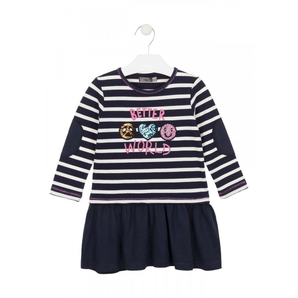 Vestido Losan Kids niña Better World infantil manga larga