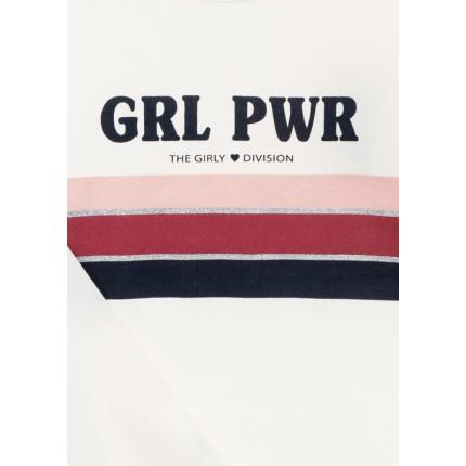 Detalle estampado Camiseta Losan niña The Girly junior manga larga