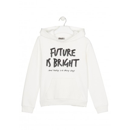 Sudadera Losan niña Future is Bright junior capucha canguro