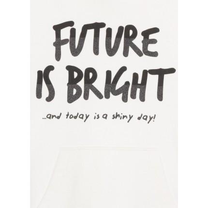 Detalle estampado Sudadera Losan niña Future is Bright junior capucha canguro