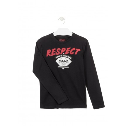 Camiseta Losan niño Respect junior manga larga
