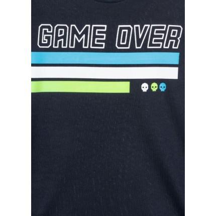 Detalle estampado Camiseta Losan niño Game Over junior manga larga
