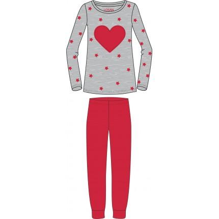 Pijama Losan niña junior Corazón Vellut