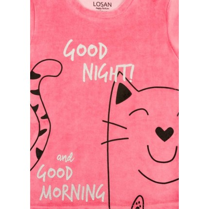 Detalle estampado Pijama Losan niña junior Good Night! Vellut