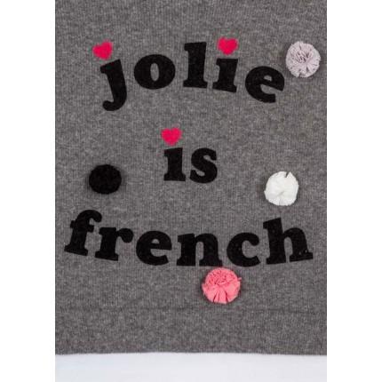 Detalle estampado Jersey Losan Kids niña infantil Jolie is french