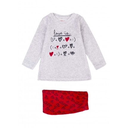 Pijama Losan Kids niña infantil Love is... Vellut