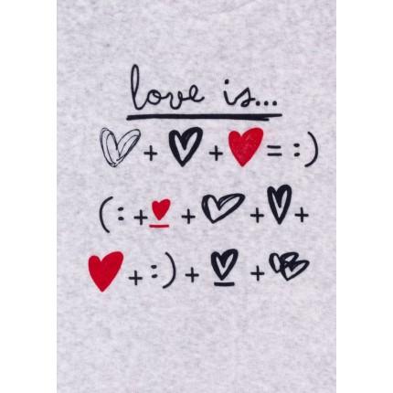 Detalle estampado Pijama Losan Kids niña infantil Love is... Vellut