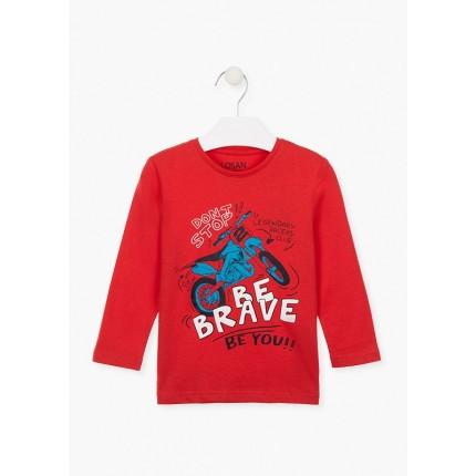 Camiseta Losan Kids niño infantil Be Brave manga larga