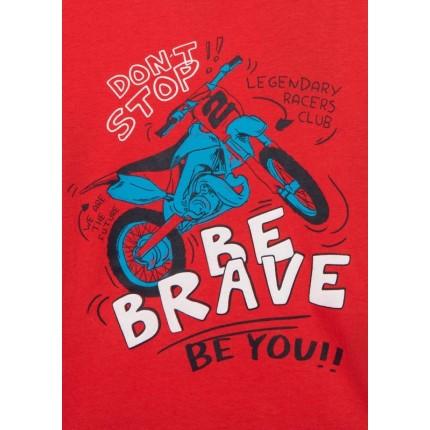 Detalle estampado Camiseta Losan Kids niño infantil Be Brave manga larga