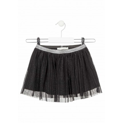 Falda Losan Chic Collection niña infantil Tull Black night chic
