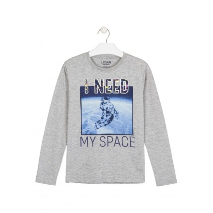 Camiseta Losan niño I need my Space junior manga larga