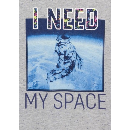 Detalle estampado Camiseta Losan niño I need my Space junior manga larga
