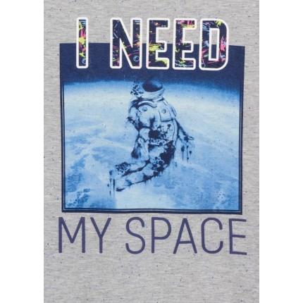 Detalle estampado Camiseta Losan niño I need my Space junior manga larga