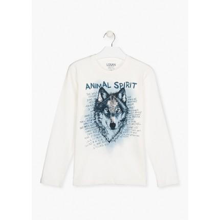 Camiseta Losan niño Animal Spirit junior manga larga