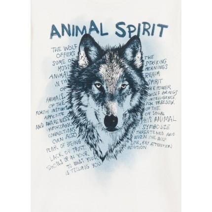 Detalle estampado Camiseta Losan niño Animal Spirit junior manga larga