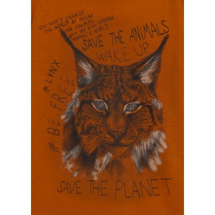 Detalle estampado Camiseta Losan niño junior Save The Future manga larga