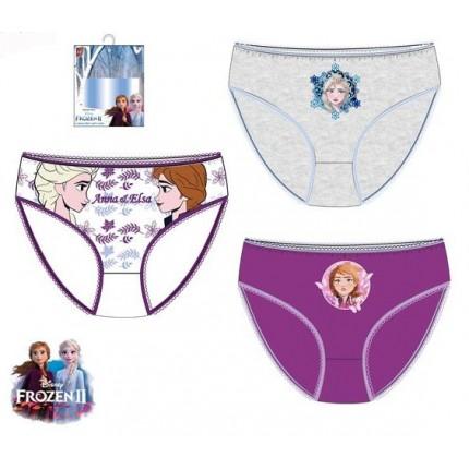 Braguitas Frozen 2 niña infantil Ana y Elsa pack de 3