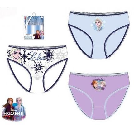 Braguitas Frozen II niña infantil Elsa pack de 3