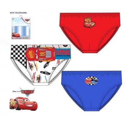 Calzoncillos Rayo McQueen Cars niño infantil pack de 3