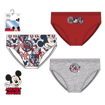 Calzoncillos Mickey niño infantil slips Pack de 3