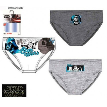 Calzoncillos Star Wars niño infantil slips Pack de 3