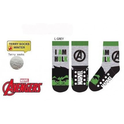 Calcetines Antideslizantes Vengadores niño infantil Hulk