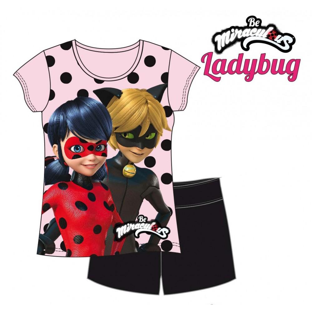 Pijama Ladybug Prodigiosa y Adrian Agreste manga corta