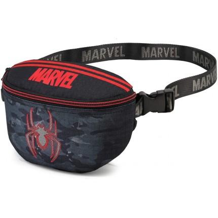 Vista lateral Riñonera Spiderman Waist Dark