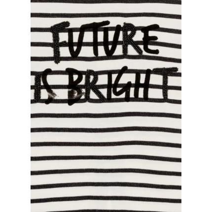 Detalle estampado Camiseta Losan niña Future is Bright junior manga larga