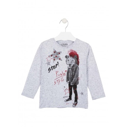Camiseta Losan Kids niño Star infantil manga larga