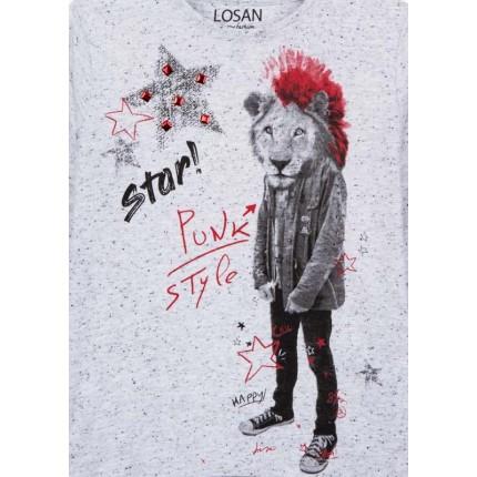 Detalle estampado Camiseta Losan Kids niño Star infantil manga larga