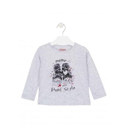 Camiseta Losan Kids niña Punk Style infantil manga larga