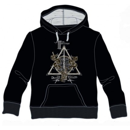 Sudadera Harry Potter niño y adulto III The Brothers capucha canguro