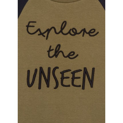 Detalle estampado Sudadera Losan niña junior Explore the Unseen
