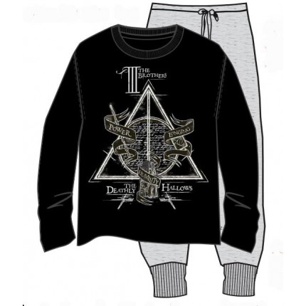Pijama Harry Potter The 3 Brothers adulto manga larga