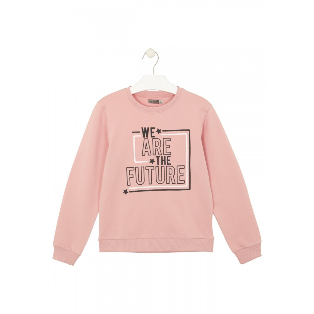 Sudadera Losan niña junior We are the future Rosa palo