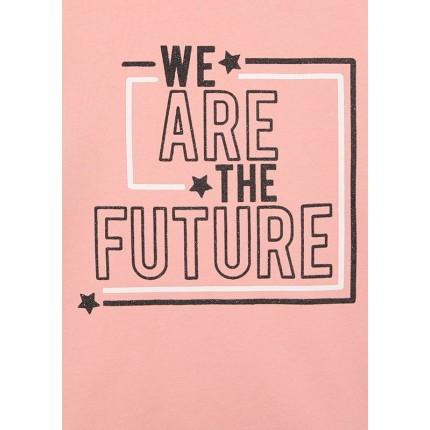 Detalle estampado Sudadera Losan niña junior We are the future Rosa palo
