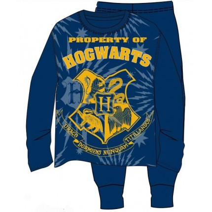 Pijama Harry Potter niño Hogwarts junior interlock manga larga