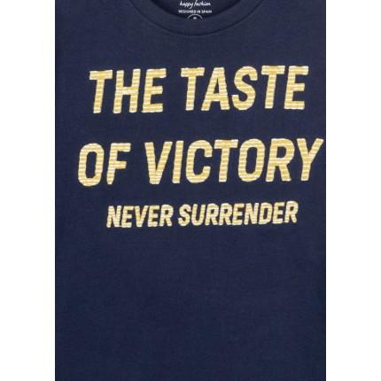 Detalle estampado Camiseta Losan niño Never Surrender junior manga larga