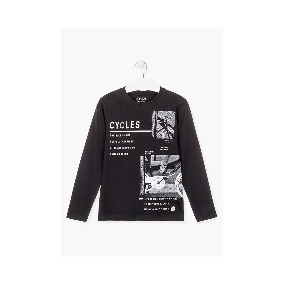 Camiseta Losan niño Cycles junior manga larga