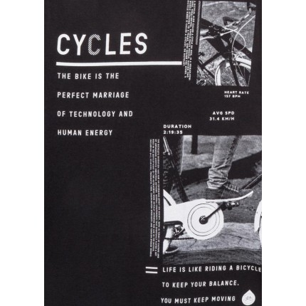 Detalle estampado Camiseta Losan niño Cycles junior manga larga