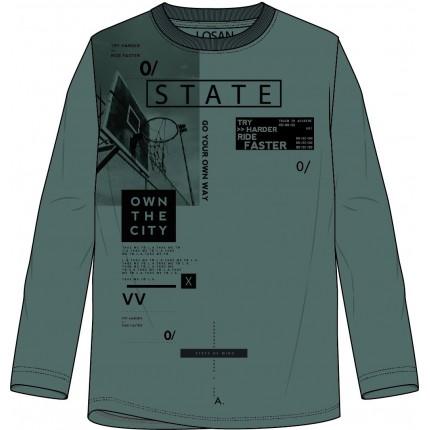 Camiseta Losan niño State junior manga larga