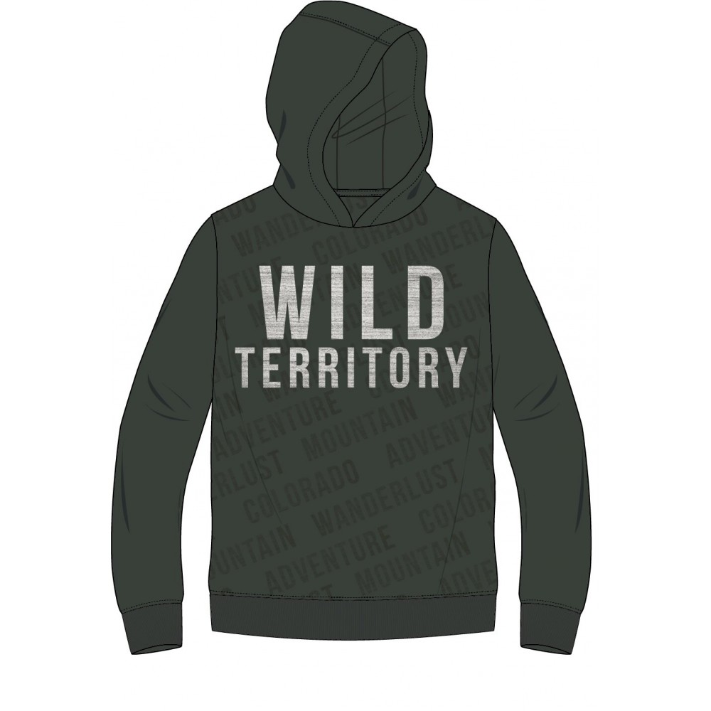 Sudadera Losan niño Wild Territory junior capucha bolsillos