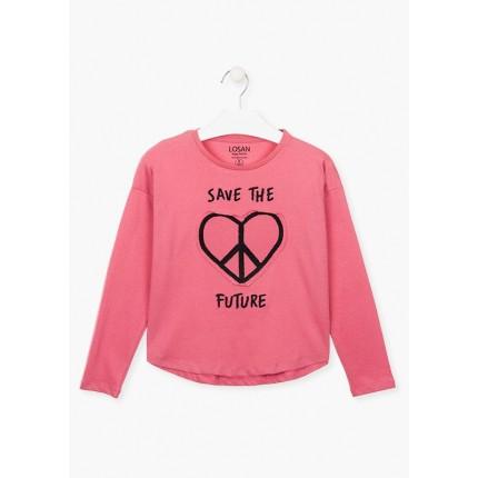 Camiseta Losan niña Save The Future junior manga larga