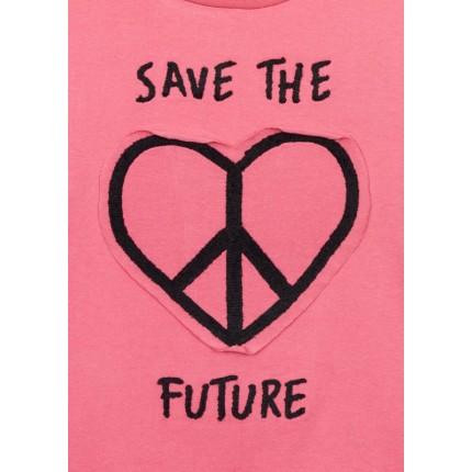 Detalle estampado Camiseta Losan niña Save The Future junior manga larga