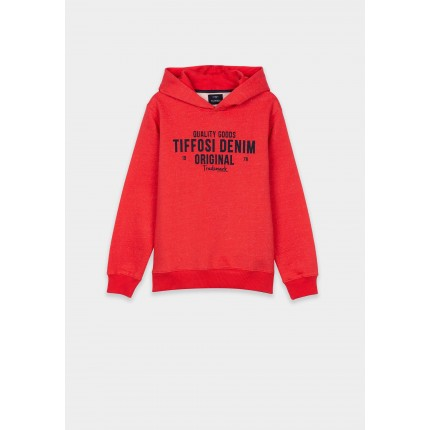 Sudadera Tiffosi niño Escobar junior capucha rojo