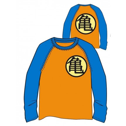 Camiseta Dragon Ball Z Kanji niño junior manga larga