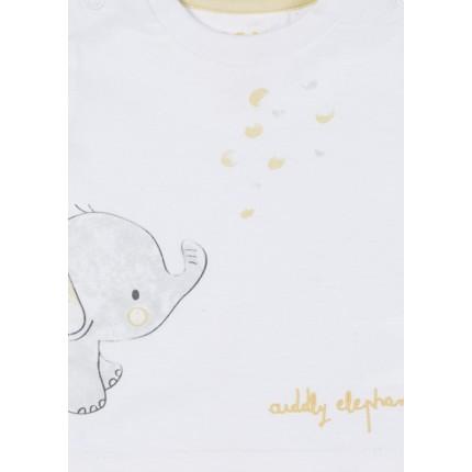 Detalle estampado Conjunto New Born Losan Baby Aiddly Elephant con bermuda